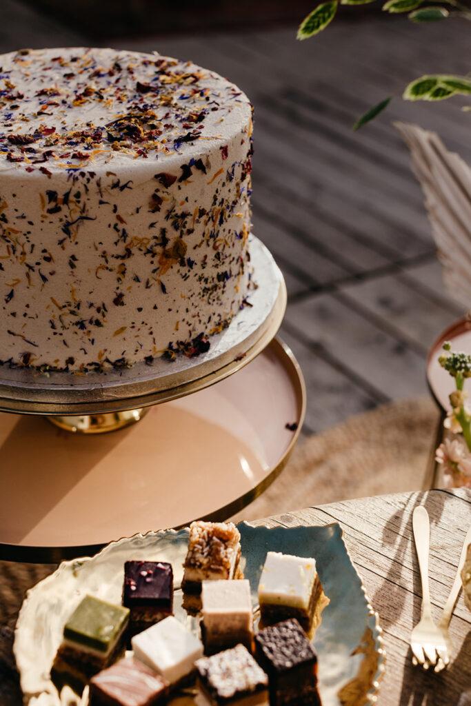 Duurzaam trouwen taart