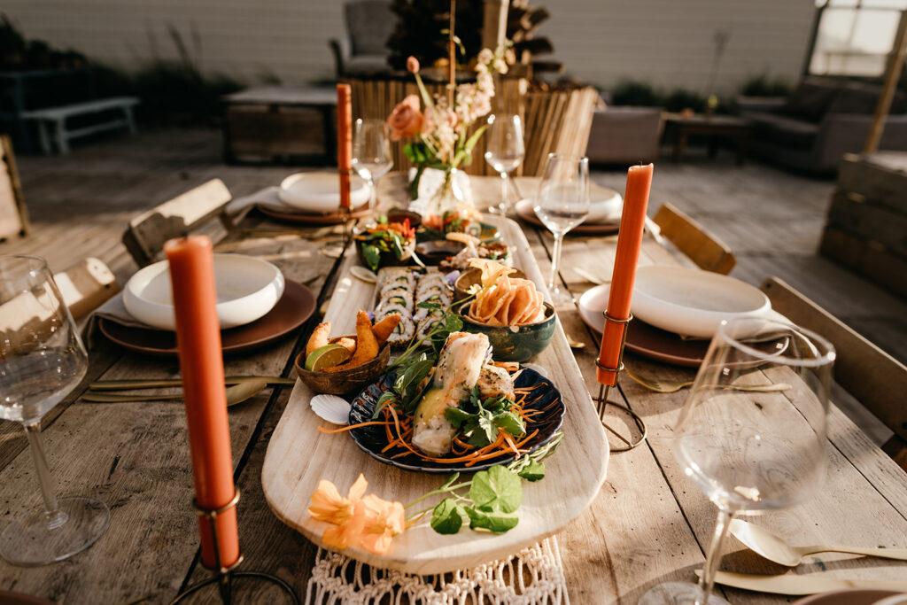 Duurzaam trouwen tafel