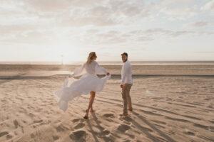 trouwen op het stand