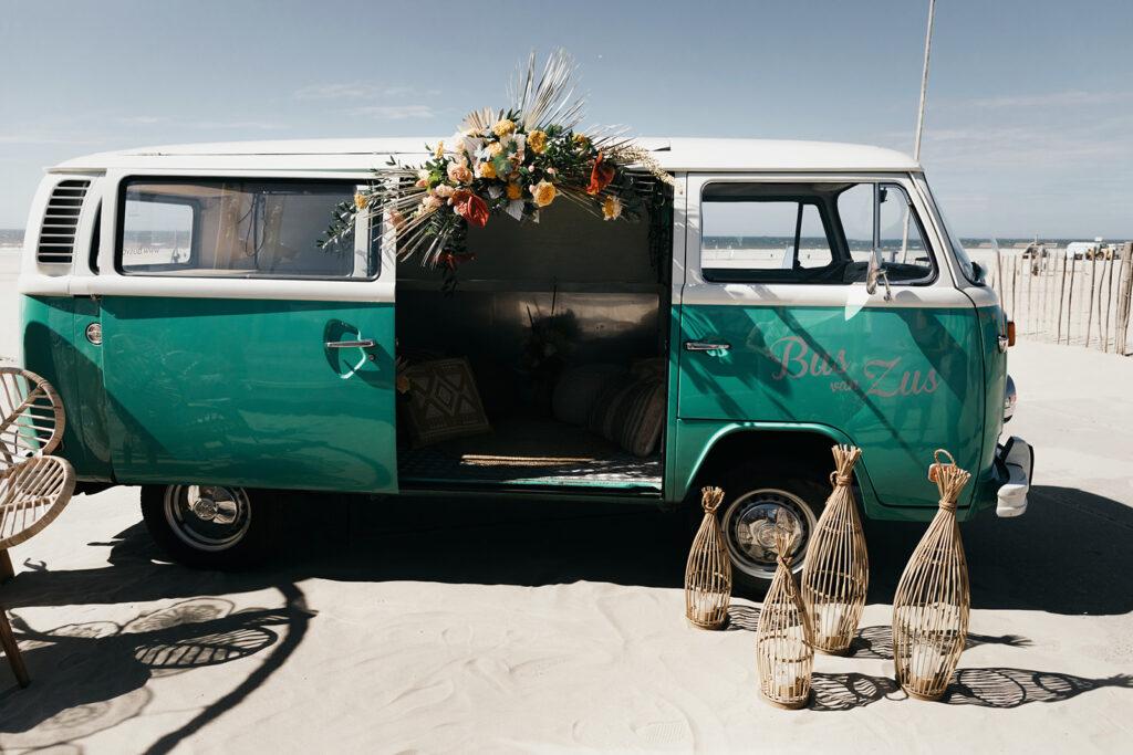 Volkswagenbusje duurzaam trouwen